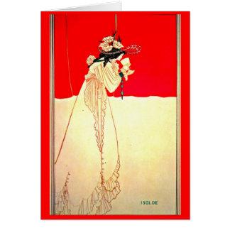 Cartão Ilustração-Aubrey Beardsley 8 do Notecard-Vintage