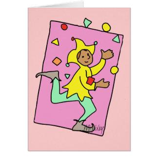 Cartão Ilustração bonito de mnanipulação da criança dos
