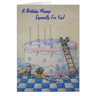 Cartão Ilustração bonito do original do bolo de