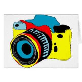 Cartão Ilustração brilhante da câmera