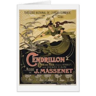 Cartão Ilustração cinderella do conto de fadas de Nouveau