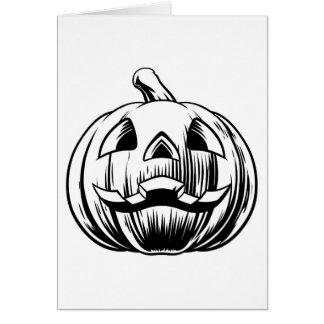 Cartão Ilustração da abóbora do Dia das Bruxas