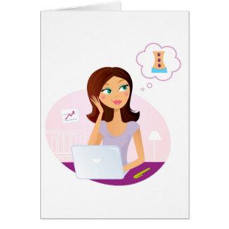 Cartão Ilustração da arte da menina do bem-estar: