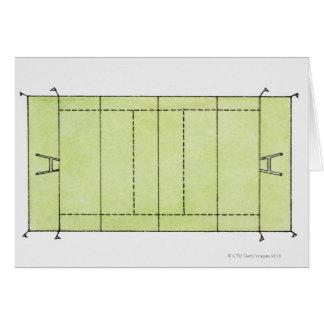 Cartão Ilustração de um passo do rugby