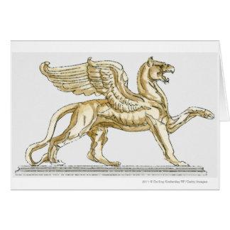 Cartão Ilustração de uma estátua do grifo