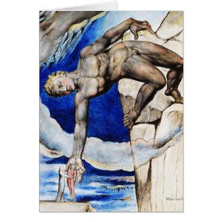 Cartão Ilustração de William Blake: A comédia divina de