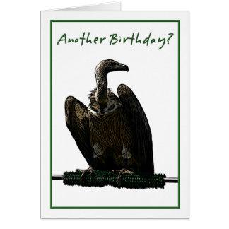 Cartão Ilustração do abutre do humor do aniversário
