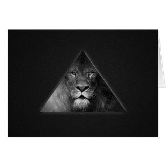 Cartão Ilustração do leão do horóscopo de Leo preto e