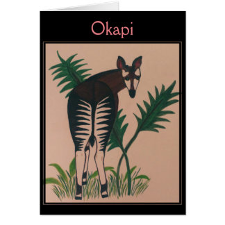 Cartão Ilustração do Okapi