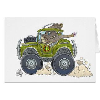 Cartão Ilustração dos desenhos animados de um elefante