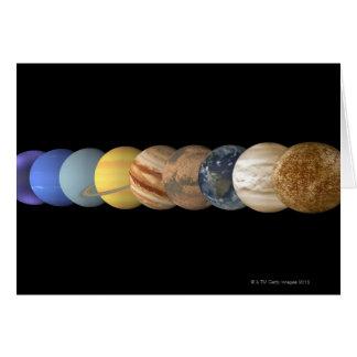 Cartão Ilustração dos planetas em alinhamento