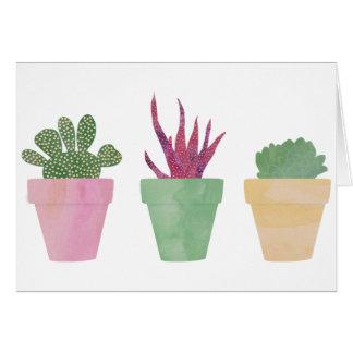 Cartão Ilustração dos Succulents