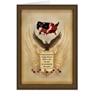 Cartão Ilustração - Eagle - EUA - prémio de mérito
