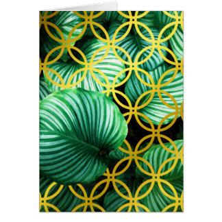 Cartão Ilustração moderna geométrica das folhas