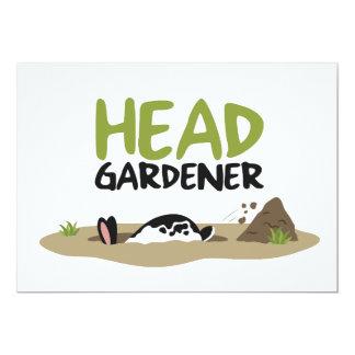 Cartão Ilustração principal do jardineiro