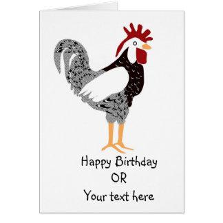 Cartão ilustrado da galinha