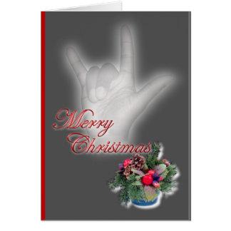 Cartão ILY - Feliz Natal