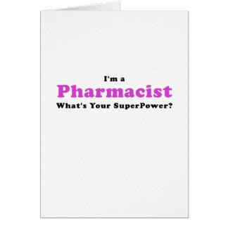 Cartão Im um farmacêutico o que é sua superpotência