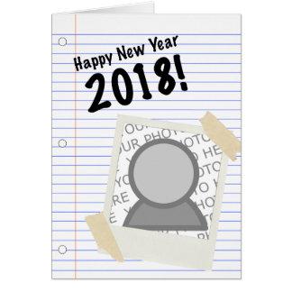 Cartão Imagem 2018 do caderno do feliz ano novo