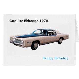Cartão Imagem clássica do carro para o