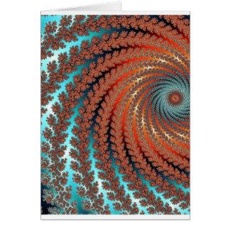 Cartão Imagem da cor do Fractal