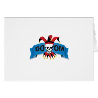 Cartão imagem da morte da desgraça