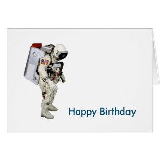 Cartão Imagem do astronauta para o
