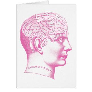 Cartão Imagem do cérebro da boa saúde