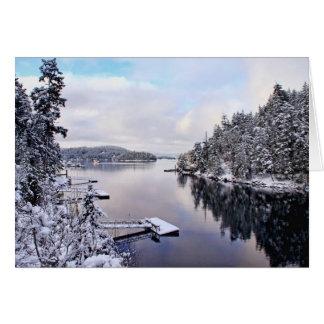 Cartão Imagem do inverno da neve