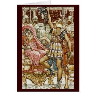Cartão Imagem do vintage - Perseus que entrega a cabeça