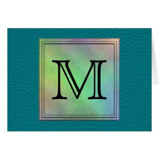 Cartão Imagem feita sob encomenda impressa do monograma