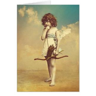 Cartão Imagem fotográfica do vintage do Cupido