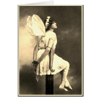 Cartão Imagem fotográfica do vintage feericamente