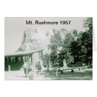 Cartão Imagem histórica do Monte Rushmore