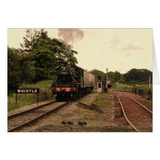 Cartão Imagem manipulada do trem do vapor
