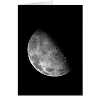 Cartão Imagem preto e branco da meia lua
