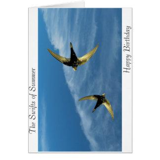 Cartão Imagem rápida do pássaro para o