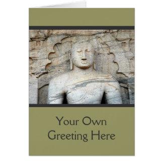 Cartão Imagem sereno de Buddha