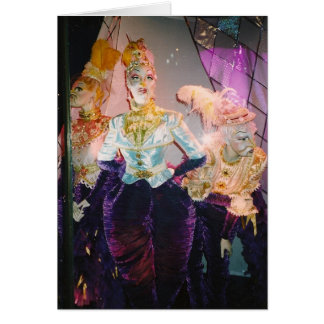 Cartão Imagens da feminilidade - em Tiffany