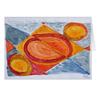 Cartão Imaginando o Sun em um dia chuvoso
