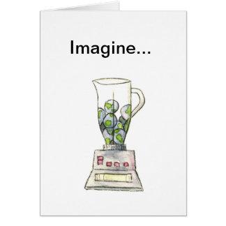 Cartão Imagine ervilhas giradas