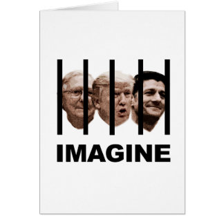 Cartão Imagine o trunfo, o McConnell e o Ryan atrás dos