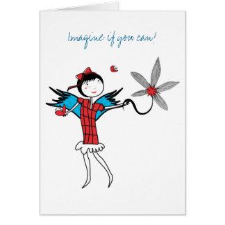 Cartão Imagine voar