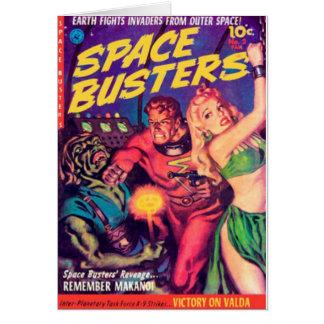 Cartão Imbeceis do espaço