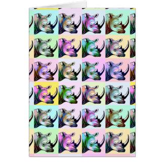Cartão Impacto do pop art dos Rhinos