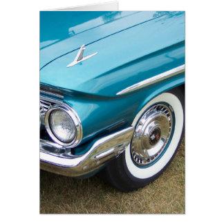 Cartão impala clássico velho do carro