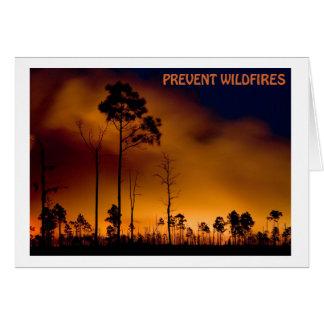 Cartão Impeça o incêndio violento