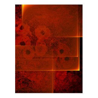Cartão impetuoso abstrato do vertical da paisagem