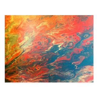 Cartão impetuoso do abstrato do por do sol
