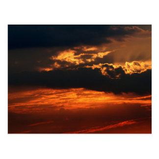 Cartão impetuoso do por do sol H